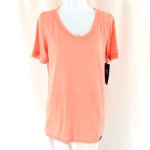 Skechers Womens T Shirt Top Burnout Short Sleeve S